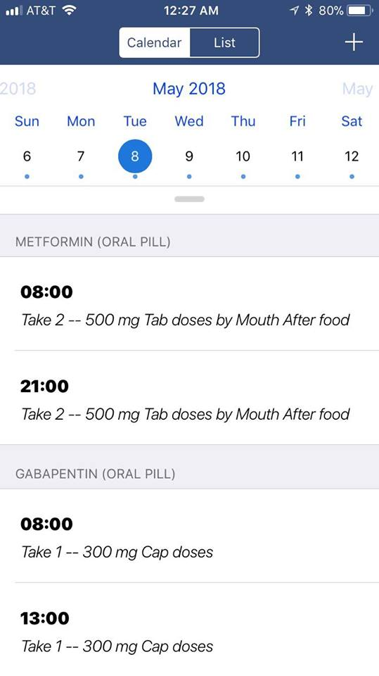 MedManage Mobile Medication Management App Screenshot