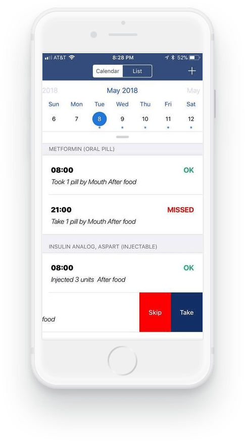 Medmanage Electronic Daily Medication Log Mobile App