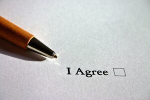 agreement page