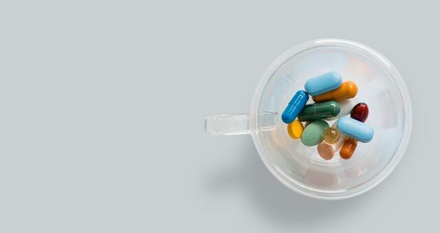 medicines in cup